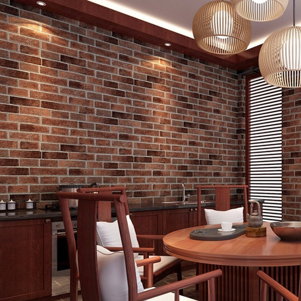 Wish | 100X45cm 3D Brick Wall Sticker Self Adhesive Foam Wallpaper Panels  Room Decal