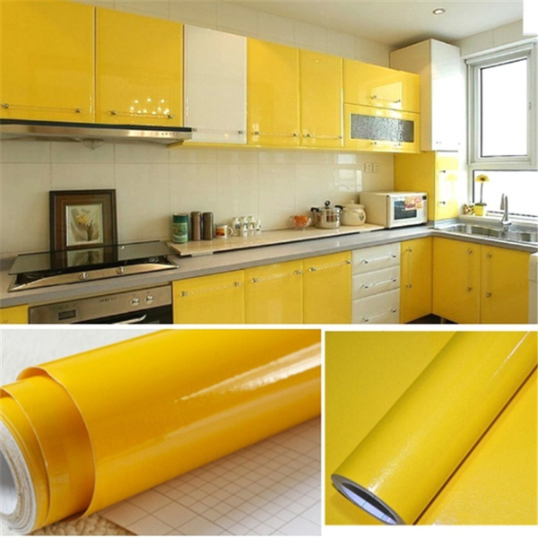 sticky paper for furniture. Mama | 5m DIY Decorative Film PVC Self Adhesive Wall Paper Furniture Renovation Stickers Kitchen Cabinet Waterproof Wallpaper Sticky For