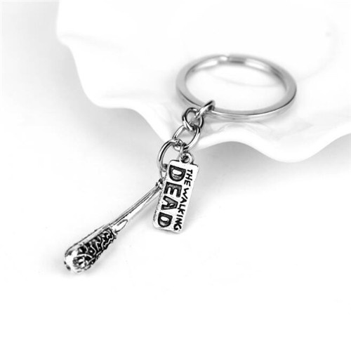 Negan's Lucille The Walking Dead Key Chain Letter Logo Cudgel The Saviors Fashion Accessory for Fans