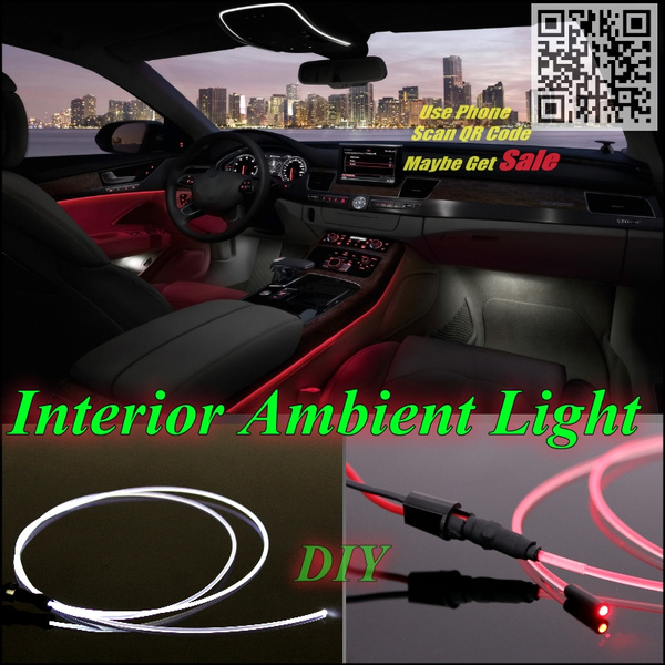 For Alfa Romeo 159 Ar Car Interior Ambient Light Panel Illumination Inside Refit Air Cool Strip Optic Fiber Band