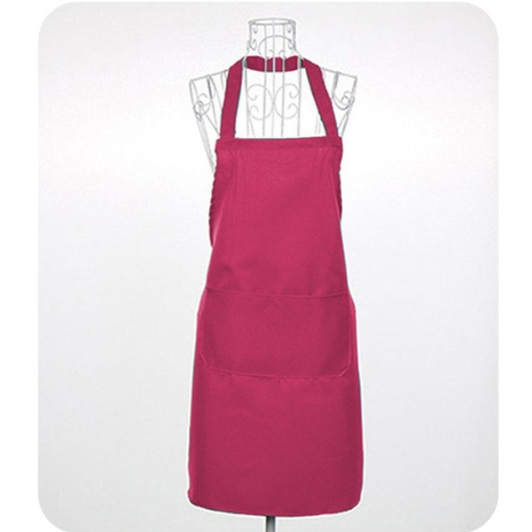 Waterproof Sleeveless Unisex Solid Bar Cafe Kitchen Cooking Apron Household