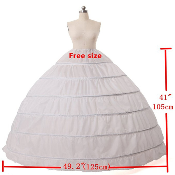 04087085ce whome | Q10 Real Ball Gown 6 Hoops White Underskirt Bridal Petticoat ...