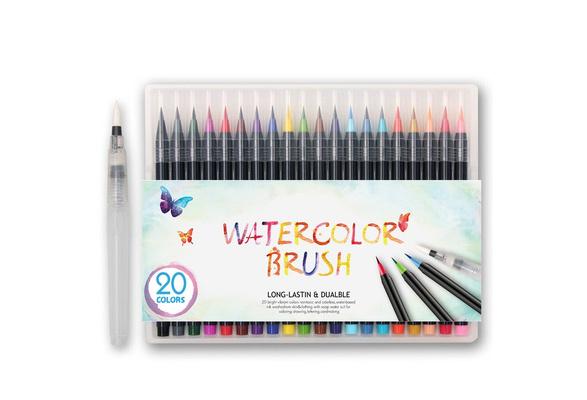 20 Colors Premium Painting Brush Pens Set Soft Flexible Tip Create Watercolor Copic Markers for Manga Comic Calligraphy