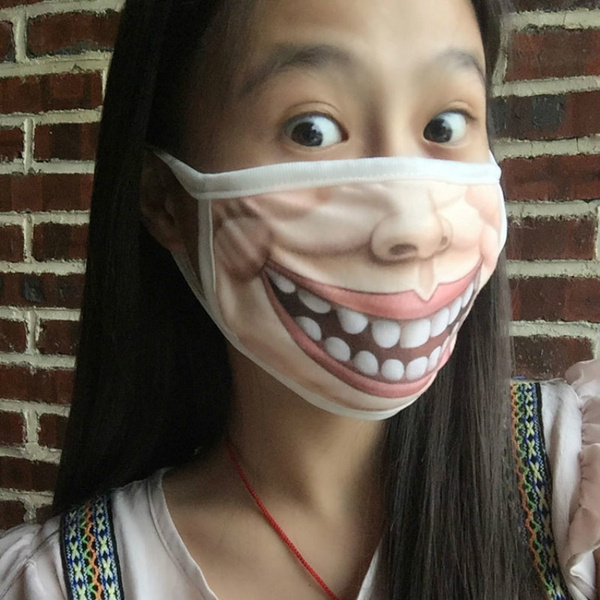 Funny Mouth-Muffle Anti-Dust Cotton Face Mask | Wish