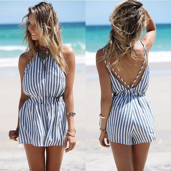 Picture of Fashion Summer Playsuit Bodycon Party Jumpsuit Romper Trousers
