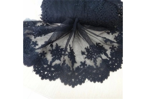 1 Yard Embroidered Tulle Lace Trim Edge Mesh Net Wedding Dress Sewing Craft Clothes Lacy Decor