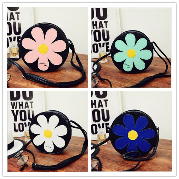 Picture of Personality Daisy Cute Sunflower Shoulder Bag Messenger Bag Sweet Chain Packet Handbag