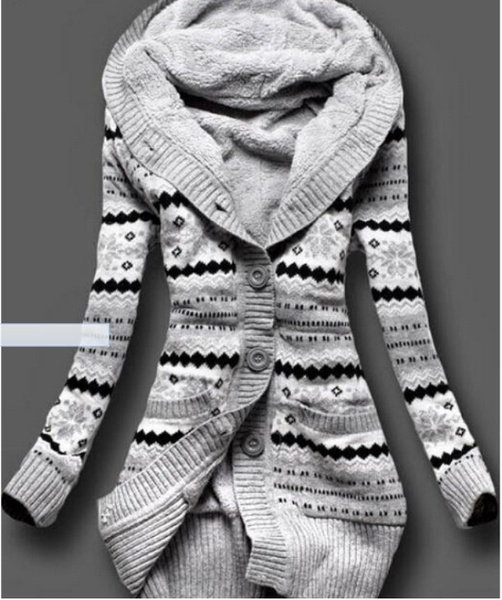 knitted, hooded, Winter, Sleeve