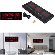 led, Home Decor, Led Clock, deskclock