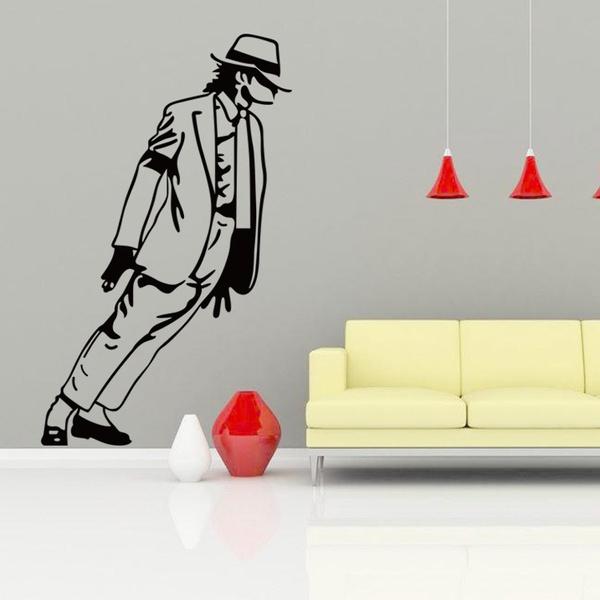 Wish Michael Jackson Mural Vinyl Wall Decals Sticker Kids Boys Nursery Room Decor