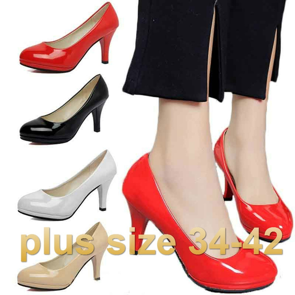 Picture of Plus Size 34-42 Women's Shoes High Heel Pointed Toe Female Business Shoes Sexy Pumps Office Lady
