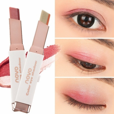 Picture of Women Fashion Makeup Double Color Eyeshadow Liner Pen Beauty Lasting Moisture Waterproof Not Fade Eyeshadow Pen