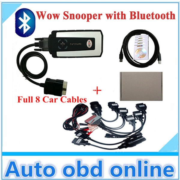 WOW SNOOPER 5 00 8R2 TCS CDP Pro New VCI Diagnostic Tool Equipment With  Bluetooth (TWO PCB) Plus Cars Cables FOR DELPHI DS150E