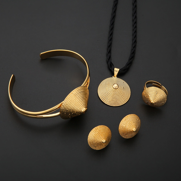 Ethiopian Jewelry Set 22k Gold Plated