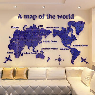 Wish world map wall stickers acrylic 3d stereo wallpaper stickers wish world map wall stickers acrylic 3d stereo wallpaper stickers office living room large background decoration gumiabroncs Choice Image