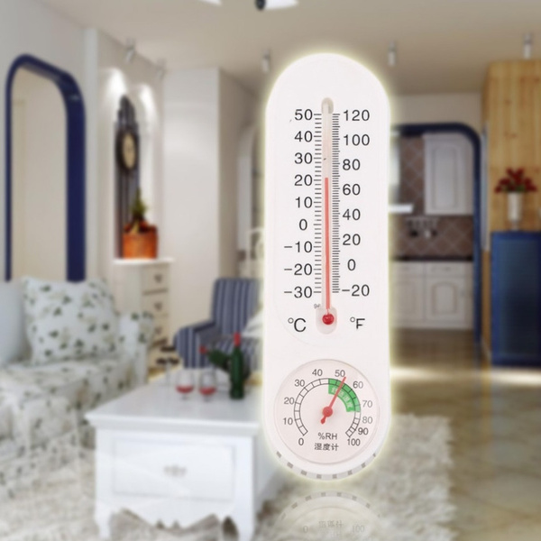 Thermometer Humidity Analog Household Thermometer Hygrometer Wall-Mounted Tester Measure Home Popular New