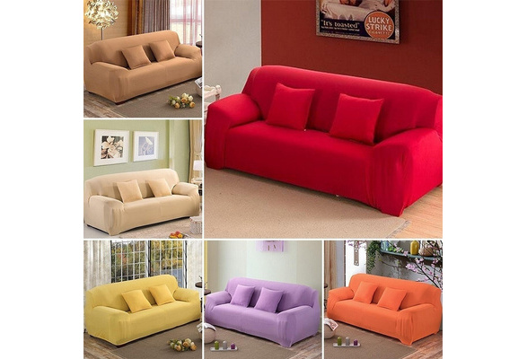 16 Solid Color New Cloth Art Turnkey Furniture Stretch Sofa Cover Big Elastic Sofa Imagey High Quality