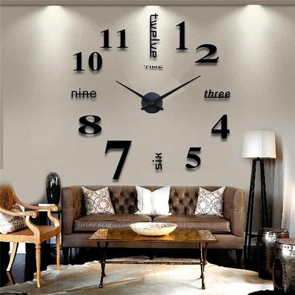 Wand Uhr Wohnzimmer Wanduhr Spiegel Wandtattoo Deko Xxl 3d Café Konferenzraum