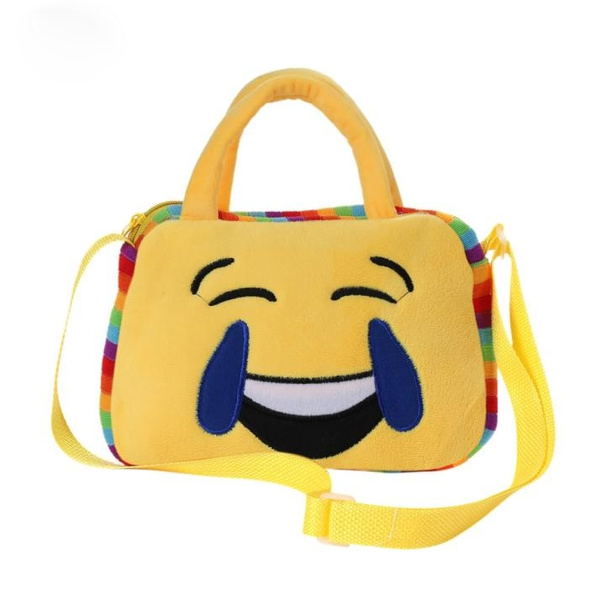 Hot Sale Cute Emoji Emoticon Shoulder School Child Bag Backpack Satchel Rucksack Handbag