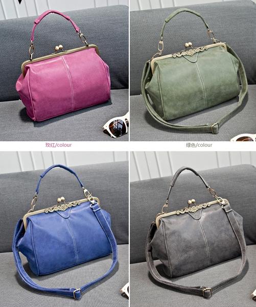 Wish British Style Leather Kiss Clip Handbag Should Bag Vintage Nubuck Message Bags
