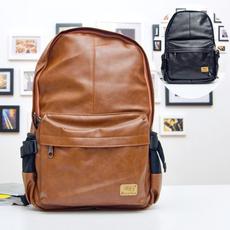 brown, School, Fashion, puleatherrusksack