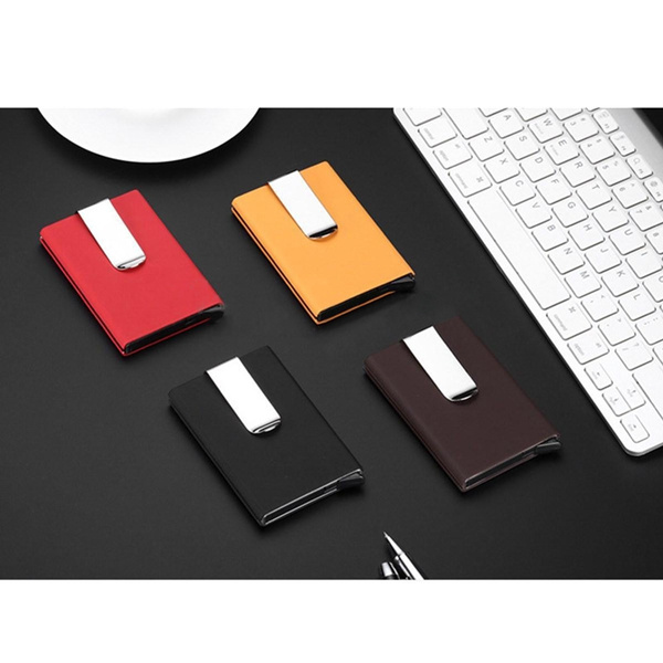 Picture of Men Women Aluminum Aluminum Clip Slim Id Credit Card Protector Holder Purse Wallet