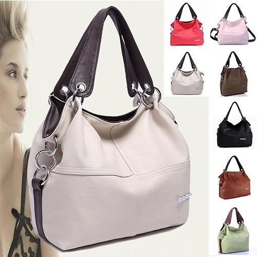 Picture of Retro Vintage Women's Pu Handbag Tote Trendy Shoulder Bags Messenger Bag Cross Body Bag