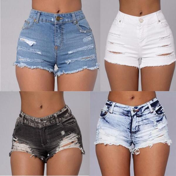 Summer, Shorts, pants, rippedjean