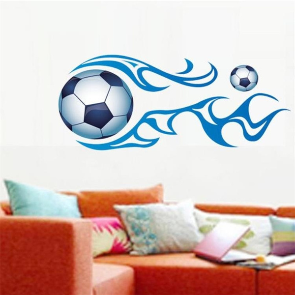 Large DIY Removable 3D Football Wall Sticker Stickers Bedroom Room Decor  Decals