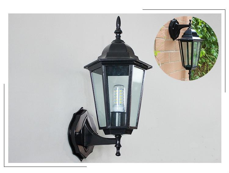 Industrial Style Outdoor Wall Lights : Retro Wall Lamps Euro Style Industrial Loft Outdoor Sconce Bracket Metal Lights eBay
