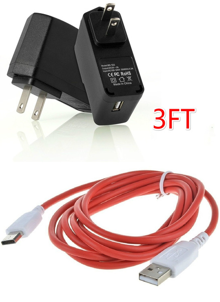 Red USB Sync Data Cord Cable for Nabi DREAMTAB HD8 Kids Tablet FUHU DMTAB-NV08B