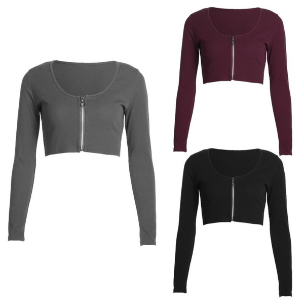 new-fashion-women-long-sleeve-sweatshirt-casual-crop-top-coat-pullover-tops by wish