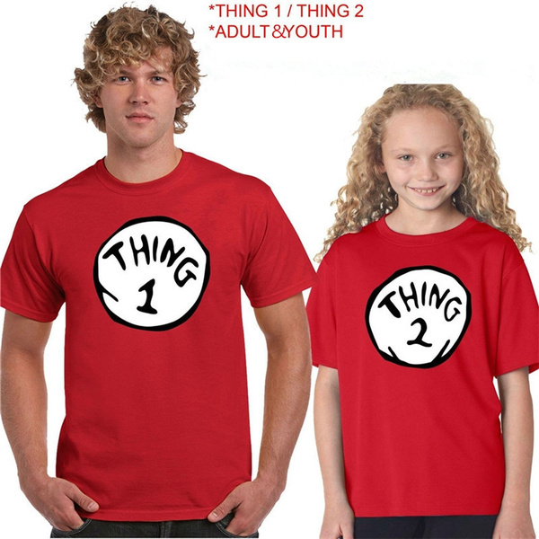14ae007273 Custom Thing 1 Thing 2 Matching T-Shirts Dr. Seuss Thing 1 & Thing 2 ...