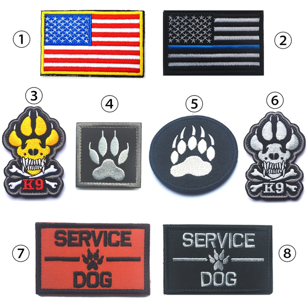 3 PCS SERVICE DOG U.S ARMY 3D MILITARY TACTICAL MORALE BADGE EMBRODIERED PATCH