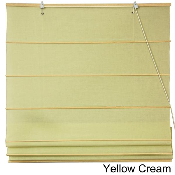 Wish Handmade Chinese 24 Inch Wide Easy Hang Cotton Roman Shades China