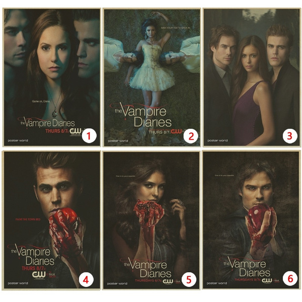 The Vampire Diaries Vintage Retro Matte Kraft Paper Antique Poster Wall Sticker Home Decorations 42x30cm