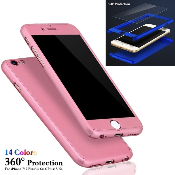 Picture of 360 Phone Protection Case Hybrid Tempered Glass + Acrylic Hard Case Cover For Iphone 7/7plus/6/6s/6 Plus