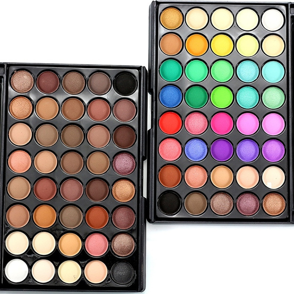 Picture of Cosmetics Makeup Shimmer Eyeshadow Natural 40 Colors Light Set Earth Color Not Blooming Waterproof