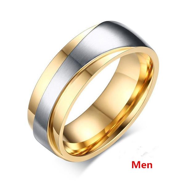 Wish 18k Gold Plated Tungsten Carbide Wedding Ring Comfort Fit Men Women Lover S Cz Diamond Finger Alliance Brand Jewelry