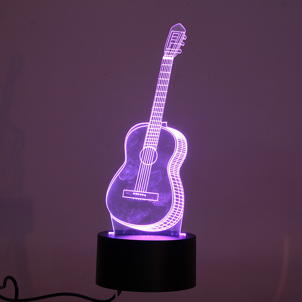 Wish fashion 3d ukulele guitar model night light 7 colors changing wish fashion 3d ukulele guitar model night light 7 colors changing led table lamp decor gifts home decor aloadofball Images