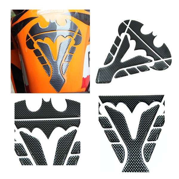 Universal Motorcycle Oil Gas Fuel Tank Pad Protector Sticker Motorbike Decal BLK