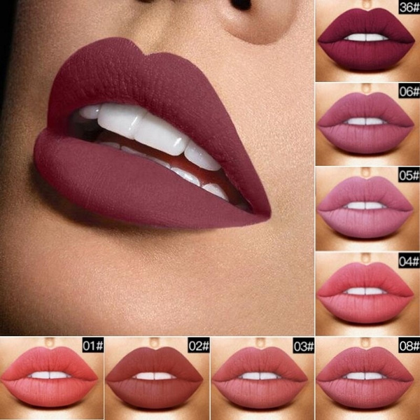 Picture of Xtreme Nude Metallic Matte Velvet Glossy Lip Gloss Lipstick Lip Creamcolorblood Red