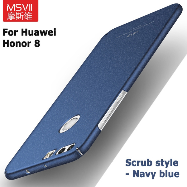 sports shoes 94f3d b4349 2017 New luxury Original MSVII Brand Huawei Honor 8 case silicone scrub  cover hard PC Back cover For huawei honor8 cases 5.2