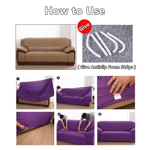 Wish | Stretch Chair Cover Sofa Covers 1 2 3 Seater Protector Couch Cover  Slipcover