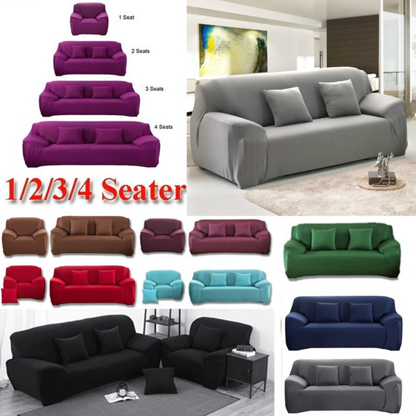 Stretch Chair Cover Sofa Covers 1 2 3 Seater Protector Couch Cover ...