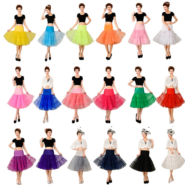 "26/"" Retro Underskirt Petticoat 50s Net Tutu Fancy Skirt Swing Vintage Rockabilly"