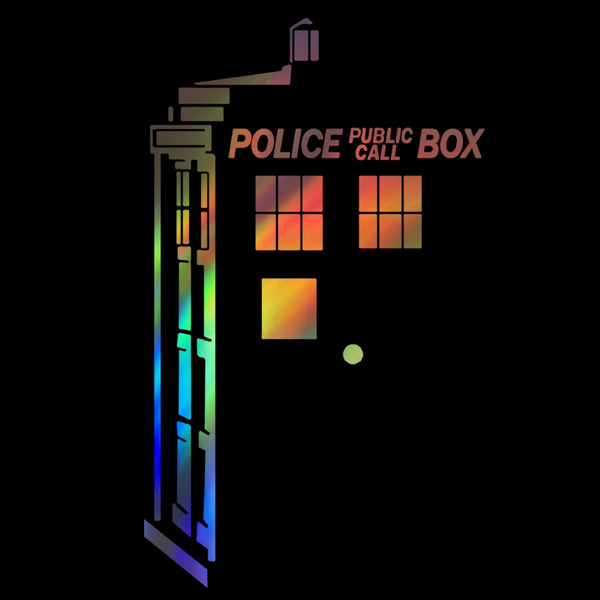 Doctor Who decal police box tardis car sticker laptop macbook pro air car  decal Size:20cm*11cm