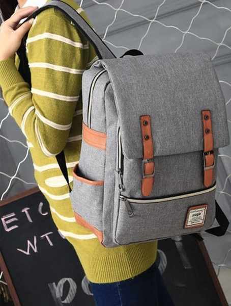 Picture of Us Stock New Men And Women's Fashion Schoolbag Shoulder Bag Simple Computer Bag Large Capacity Backpack