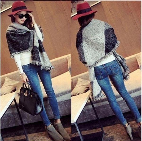 Gray, Scarves, Fashion, Winter
