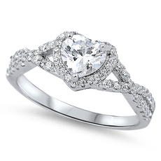 Sterling, Heart, DIAMOND, Infinity